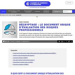 Décryptage : le Document unique d'évaluation des risques professionnels