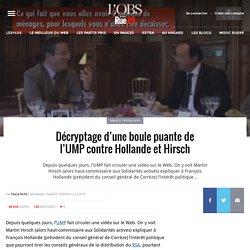Décryptage d'une boule puante de l'UMP contre Hollande et Hirsch
