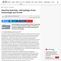 Machine learning : décryptage d'une technologie qui monte