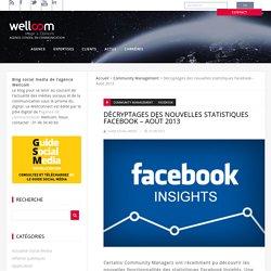 Décryptages des nouvelles statistiques Facebook - Août 2013 - Wellconnect