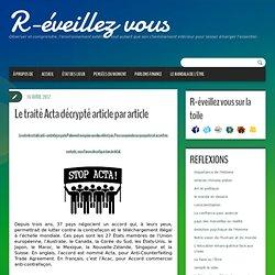 Le traité Acta décrypté article par article