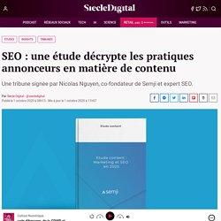 SEO : une étude décrypte les pratiques annonceurs en matière de contenu
