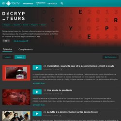 Les Décrypteurs : émission de la chaîne Tout.TV, web télé de radio Canada