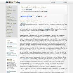 Ellsberg, Cockburn et Afghan Wikileaks