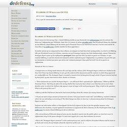 Ellsberg et Wikileaks (suite)