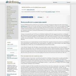 Notes sur Occupy la crise (dde.crisis)