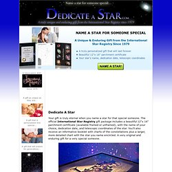 Dedicate A Star | Name a Star for Someone Special! - StarRegistryGifts.com