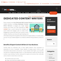 Why to Hire Dedicated Content Writers