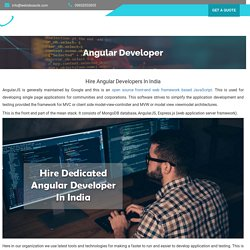 Hire Dedicated Angular Developer - Top AngularJS Developers India