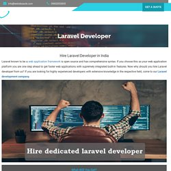 Hire Dedicated Laravel Developer- Laravel Developers India