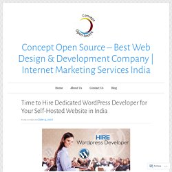 Time to Hire Dedicated WordPress Developer for Your Self-Hosted Website in India