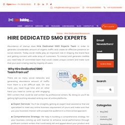 Know the main reasons of hiring dedicated SMO Expert