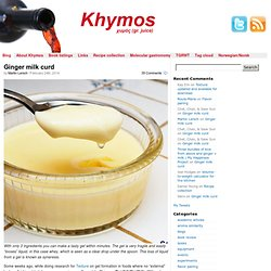 Khymos » - dedicated to molecular gastronomy