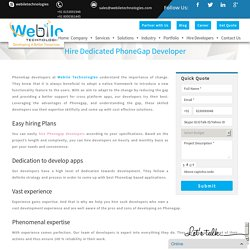 Hire Dedicated PhoneGap Developer