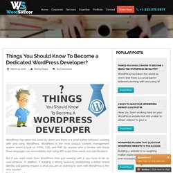 How to Become a Dedicated WordPress Developer