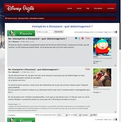 Intempéries à Disneyland : quel dédommagement ? : Informations pratiques - Page 2
