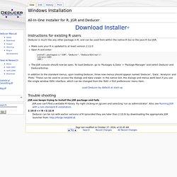 Deducer: A GUI for R - Windows Installation