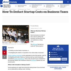 How To Deduct Business Startup Costs on Business Taxes