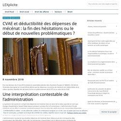 CVAE et déductibilité des dépenses de mécénat : la fin des hésitations ou le ...