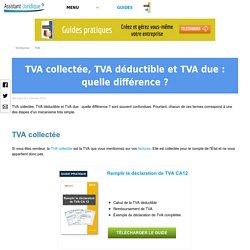 TVA collectée, TVA déductible et TVA due