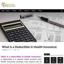 What is a Deductible in Health Insurance