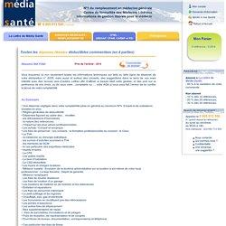 Lettre de Média-Santé - Toutes les dépenses libérales déductibles commentées (en 4 parties)