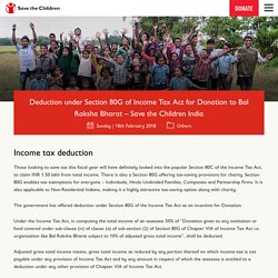 How to Claim Income Tax Deduction for Donation under Section 80G