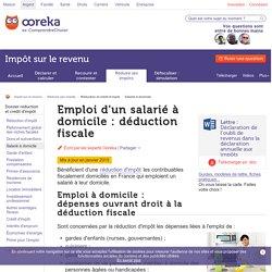 Déduction fiscale pour un travail à domicile - Ooreka
