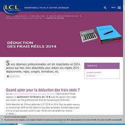 Déduction des frais réels - Impôts 2015