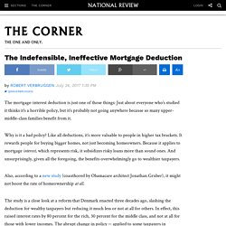 Study: Mortgage Deduction Doesn't Increase Homeownership
