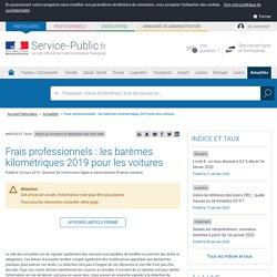 Impôt sur le revenu -Déduction des frais réels : les barèmes kilométriques2017