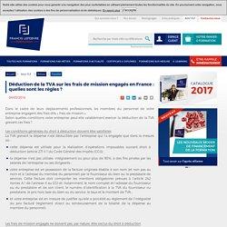 Déduction de la TVA sur les frais de mission engagés en France : quelles sont les règles ?