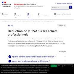 Déduction de la TVA sur les achats professionnels - professionnels