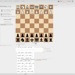 Marco753 vs Deductionist in rXlL9iV6 : C30 King's Gambit Declined, Classical Variation