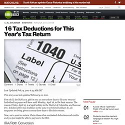 16 Tax Deductions for This Year's Tax Return