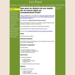Loi Pinel : Que peut-on déduire de ses impôts sur le revenu après un investissement Pinel?