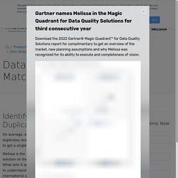 Data Deduplication - Contact Data Quality Services