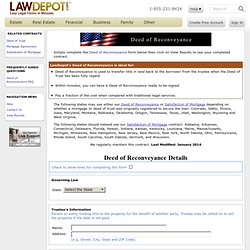 Deed of Reconveyance (USA) Form - LawDepot