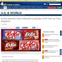 "Kit Kat Deemed ""Most Influential Candy Bar of All Time"" by Time Magazine"
