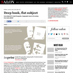 Deep book, flat subject - Imprint