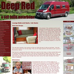 Deep Red - A self-build motorhome - beds & seats
