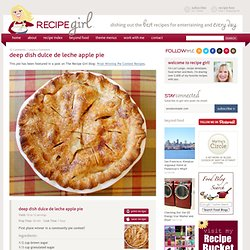 Deep Dish Dulce de Leche Apple Pie