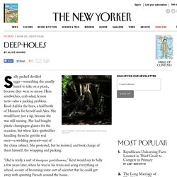 Deep-Holes - The New Yorker
