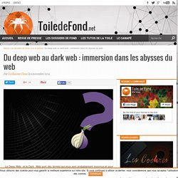 Du deep web au dark web : immersion dans les abysses du web » Toile de Fond