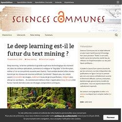 Le deep learning est-il le futur du text mining