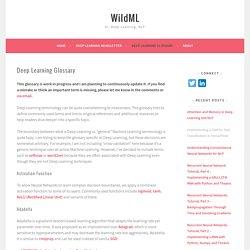 Deep Learning Glossary – WildML