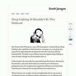 Deep Linking: It Shouldn't Be This Difficult — Jangro.com