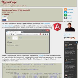 Deep Linking a Tabbed UI With AngularJS