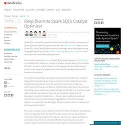 Deep Dive into Spark SQL's Catalyst Optimizer
