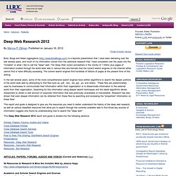 Deep Web Research 2012